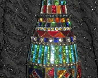 Mirrored Mosaic Genie Bottle