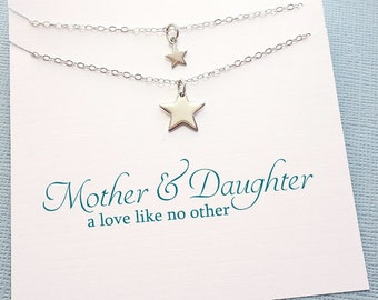 Mother Daughter Jewelry | Star Necklace Set, Mother Daughter Jewelry Set, Gifts for Mom, Mother Daughter Gift, Mom Jewelry, Boho Mom | MD04