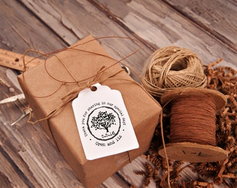 Tree rubber stamp thank you for sharing in our special day wedding favors --13045-CB17-000