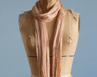 Vintage peach boudoir scarf