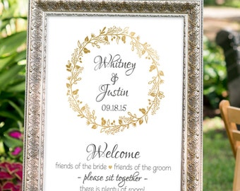 wedding seating sign, white and gold wedding decor, printable wedding sign, choose a seat sign, welcome wedding sign, gold wedding signs
