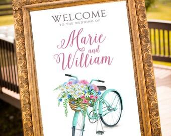 PRINTABLE - Wedding Welcome Sign, Garden Wedding, Pastel Wedding, Hashtag Sign, Guestbook Alternative, Printable Wedding Decor