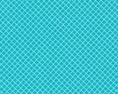 Crosshatch fabric, Aqua Fabric by Ann Kelle, Robert Kaufman - Remix Crosshatch in Aqua, Cotton Fabric by the Yard. Free Shipping Available
