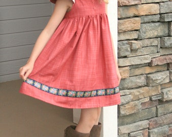 Chambray and Roses Tilly dress   RTS Ready to Ship size 8 ON SALE