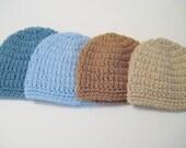 Baby Boy Hat, Newborn Hat, Hospital Baby Beanie, Baby Shower Hat, Baby Boy Gift, Baby Head Warmer, Newborn - Toddler, Pick Color & Size!