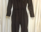 Mens HOT ROD Vintage Mechanic Jumpsuit Coveralls Unitog Work Chore Gas Station Pit suit Mens size S