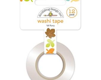 Fall Flurry Washi Tape • Flea Market Doodlebug Decorative Tape • Fall Autumn Washi Tape • Leaves Tape (5322)