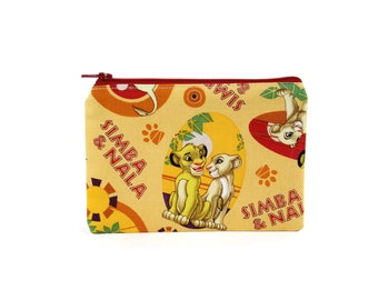 Lion King Pouch / Simba and Nala Camera Bag / Cute Disney Coin Wallet