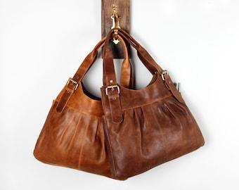 Brown Leather Shoulderbag Purse