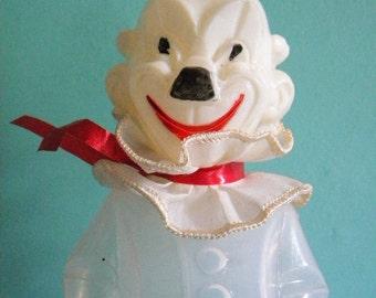 Vintage Clown Candy Holder Large Plastic Creepy Clown West Germany R Rosen