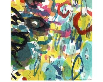 Mini abstract no. 1, 5 x 7 archival art print