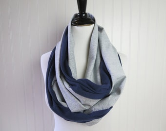 Dallas Cowboys Scarf - Silver & Navy Chevron Scarf -  Cowboys Scarf - Chevron Team Scarf  - Reversible Scarf