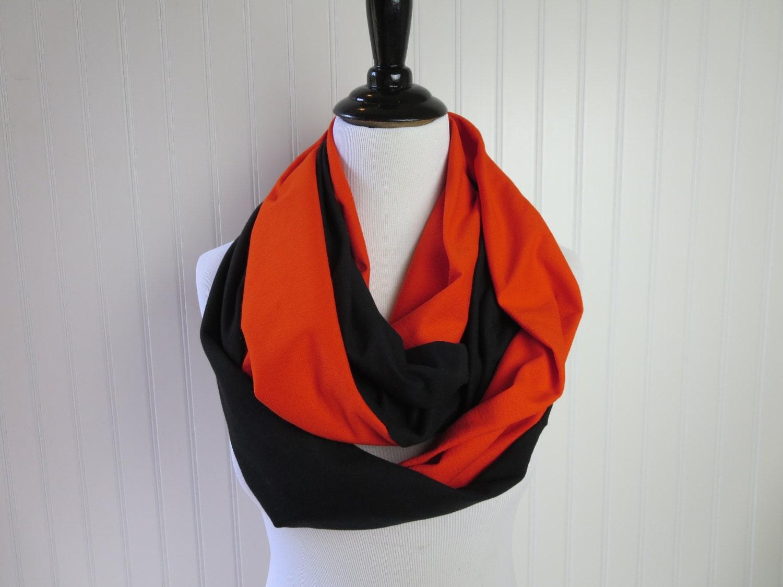 orange and black scarf san francisco scarf by oohbabyinfinity