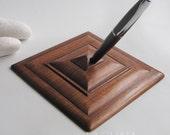 Pen holder wooden, upcycled wood Secretary
