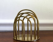 Brass letter holder office accessory mid century