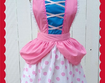 Little Bo Peep costume apron, womens costume apron, Bo Peep dress up ap-ron, Toy Story costume, retro apron, fairy tale costume, full apron