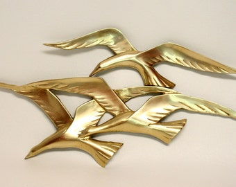 Brass Seagull Wall Hanging by Penco