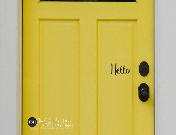 Hello Front Door Decals For Your Front Door Entryway Decor