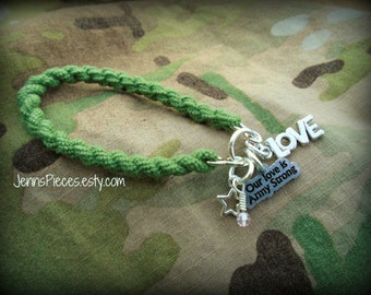 Our Love is ARMY STRONG boot band bracelet SSG128 Soldier Girlfriend National Guard Marines Navy Air Force Usaf Usmc deployment deployed usn