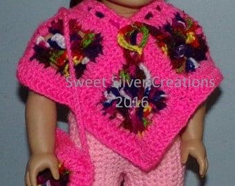 18 inch American Girl Crochet Pattern - Poncho Set