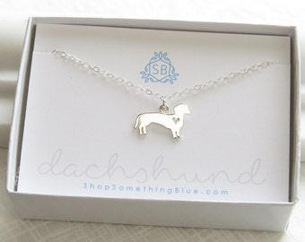 Doxie Necklace • Dachshund Necklace • Dackel Hund •  Dog Lover Gift • Wiener Dog Jewelry • Doxie Necklace • Sterling Dachshund Charm