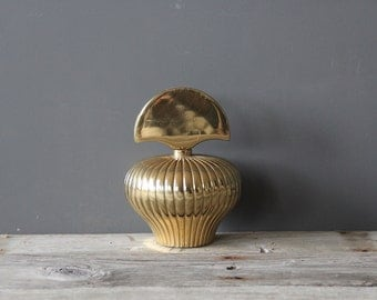 Large Solid Brass Perfume Bottle