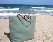Beach Bag, Linen Tote Bag, Resort Tote, Vacation Bag