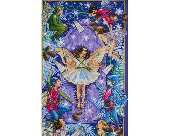 Flower Fairy Enchanted Twilight Cicely Mary Barker Fabric Panel