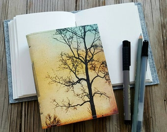 tree of free spirit journal - diary notebook gift for him and her under 20