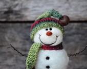 Needle Felted Snowman | felted wool snowmen  763