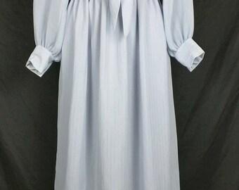 Vintage Gray Silver Stripe  Dress Misses  S M 1970s