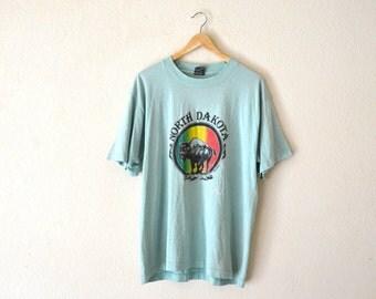 "80's ""North Dakota"" Souvenir Graphic T-Shirt"