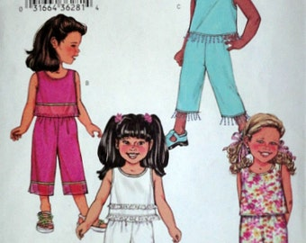 Butterick 3789 Sewing Pattern, Girls' Top and Pants, Size 6-7-8, Uncut FF