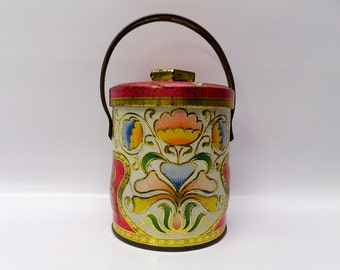 Lovely Murray Allen candy tin with handle