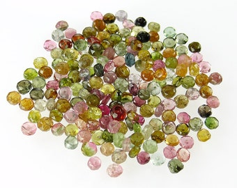 Set of 180 Watermelon Tourmaline 3.5mm to 4mm Faceted Rondelles