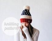 Ozetta Alpine USA Fair Isle Knit Hat Pattern Instant Download