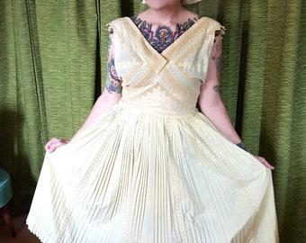 yellow 1950s sun dress