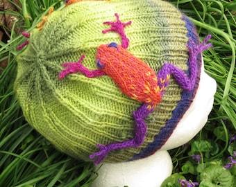 Knit Pattern For Frog Hat : Frog hat Etsy