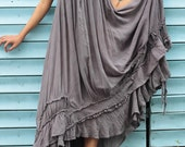 Asymmetric gypsy skirt ... hippie, boho, elegant