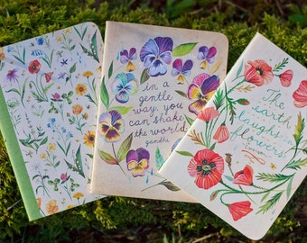 Floral Mini Notebook Trio | Journals | Katie Daisy