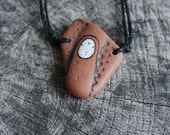 Healing Shard Necklace - Beach Pottery Kanzeon (Kuan Yin - The Bodhisattva of Compassion), Healing, Calm, Love, Meditation