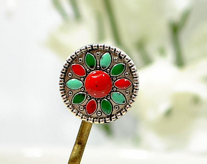 Small Bobby Pin Sunflower Hair Pin Native American Inspired Flower Hairpin