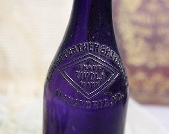 Vintage PURPLE BOTTLE- Robert Portner Brewing Co.  Alexandria, VA- Tivoli- Amethyst Glass- D27