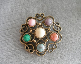 Colorful Vintage Sarah Coventry FESTIVAL Brooch / Pin