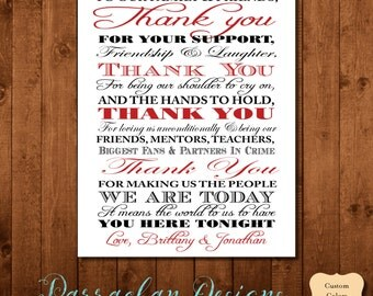 Wedding Thank You Sign, Thank You Wedding Sign, Wedding Sign, Reception Sign, {FS03}