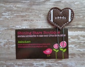 Planner Accessories - Brown And White Football Shaped Heart Paper Clip Or Bookmark - Sports Accessory For Planner, Calendars, Or Books