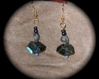 Labradorite Special cut and Nugget with Glass Clay Plastic Beads