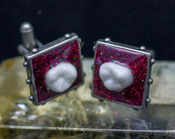 The Red Queen Cuff Links