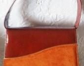 Beautiful Vintage Burnt Orange, Signed Air Step Handbag