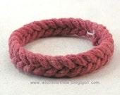 thick red herringbone rope bracelet fisherman bracelet turks head knot bracelet armband rope jewelry nautical jewelry 3715